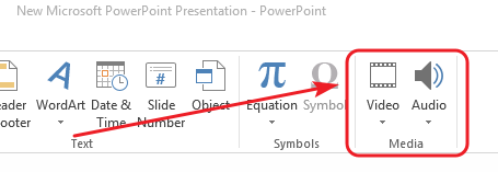 Embed video and audio in MS PowerPoint