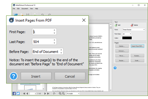 Merging And Splitting PDF Documents