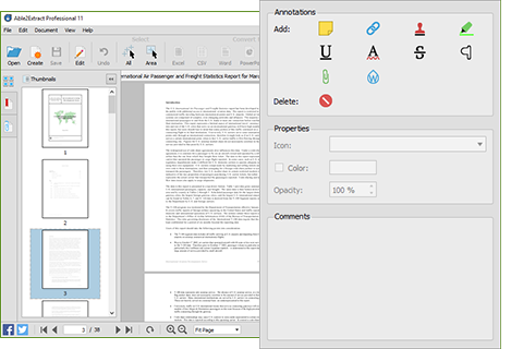 Annotate PDF Documents