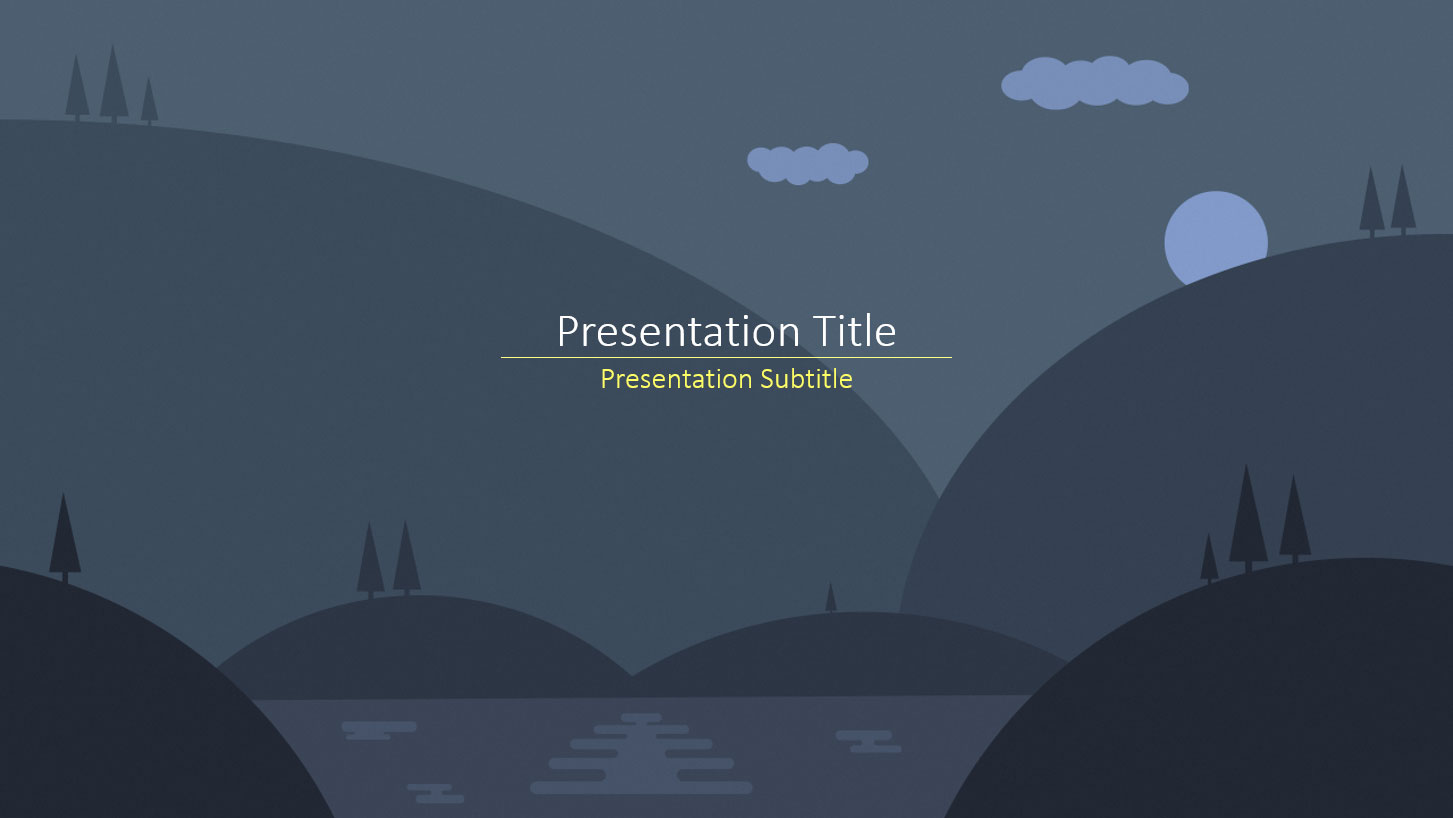 Free powerpoint templates dark nature toneelgroepblik Choice Image