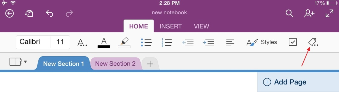 Basic Tips for Working in OneNote for iPad