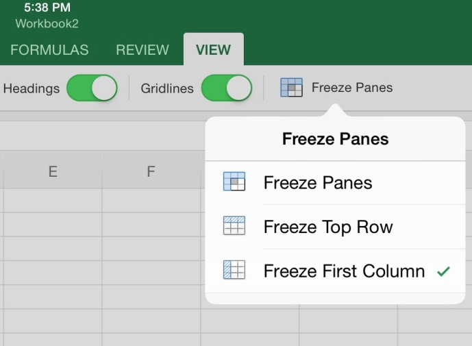 How to Freeze Columns and Rows in Microsoft Office for iPad