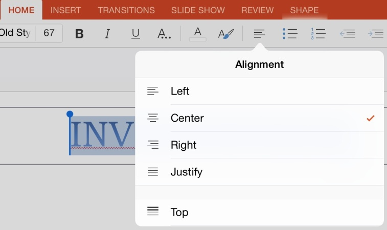 How to Properly Align Text and Pictures in PowerPoint for iPad