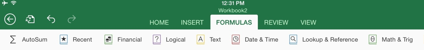 How to Use the Formulas Tab in Excel for iPad