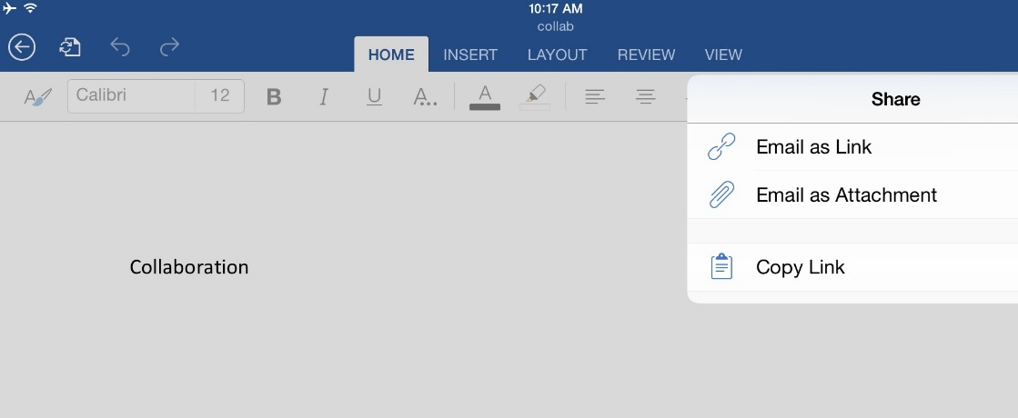 How to Work Collaboratively Using MS Office for iPad