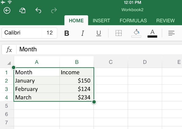 How To Create Charts In Microsoft Word And Powerpoint For Ipad Apps