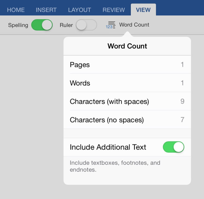 Tips for Editing Documents in Word for iPad
