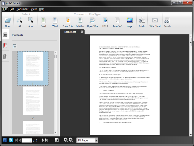 View and convert PDF data to Word, Excel, PowerPoint and Publisher