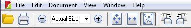 SlimPDF toolbar
