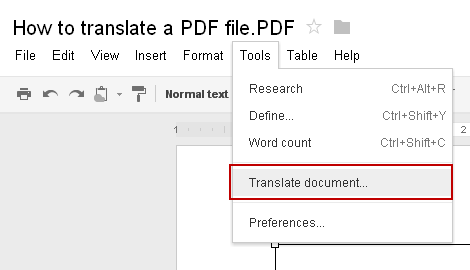 How to translate PDF file