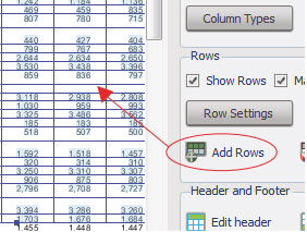 PDF to Excel Add Rows