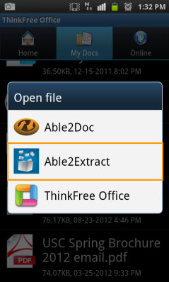 Able2Extract on Android