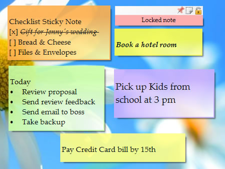 Desktop Sticky Note App