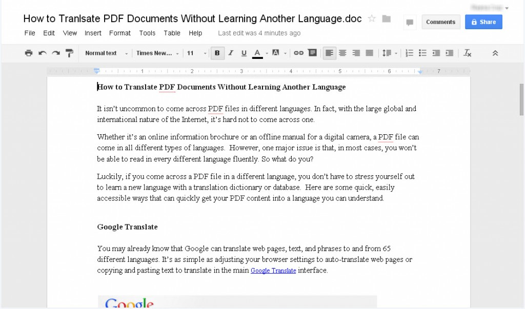 Editing OpenOffice in GoogleDocs
