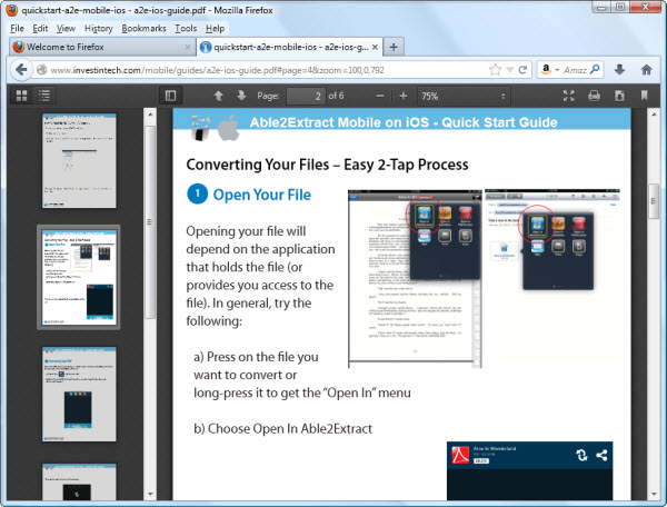 Viewing PDF In Firefox
