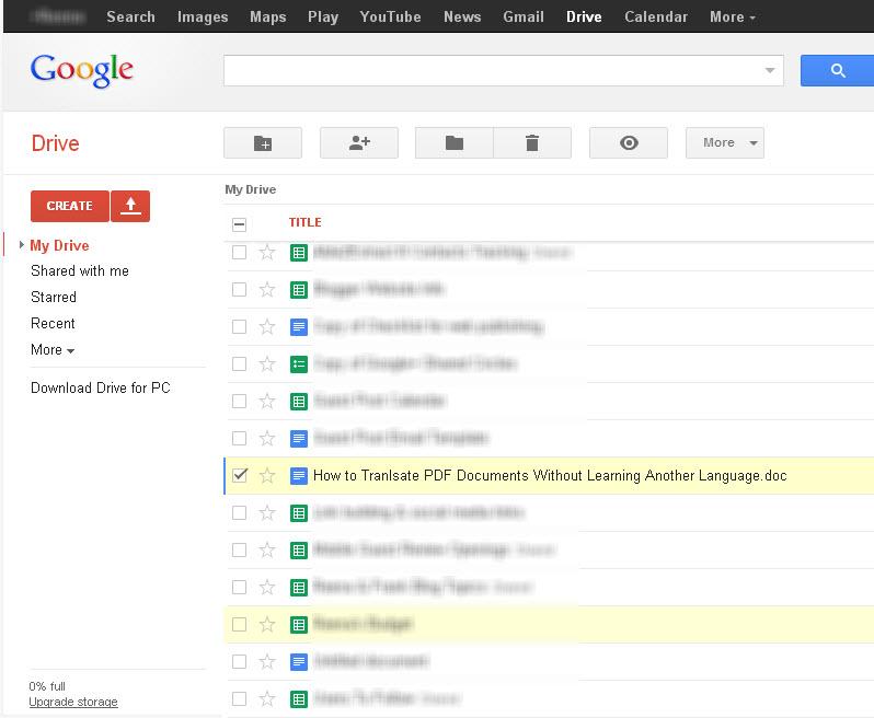 OpenOffice file in GoogleDrive