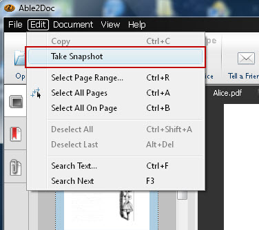 Take Snapshot feature in Able2Doc