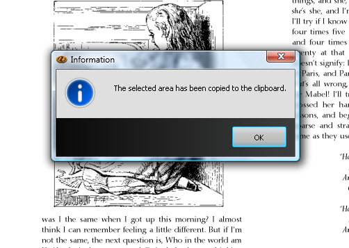 Copying PDF content to clipboard