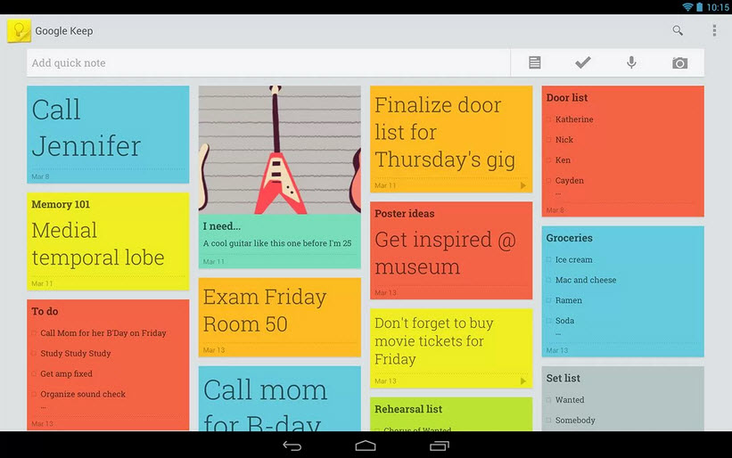 Using Google Keep App
