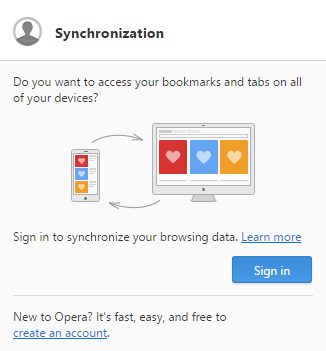Sync Opera Browser Data