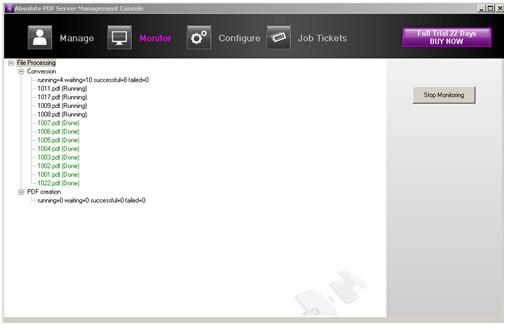 Converting via Absolute PDF Server Interface