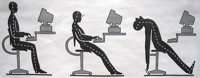 Ergonomic office desk setup