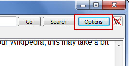 Accessing WikiTaxi Options