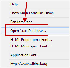 Opening the WikiTaxi Database