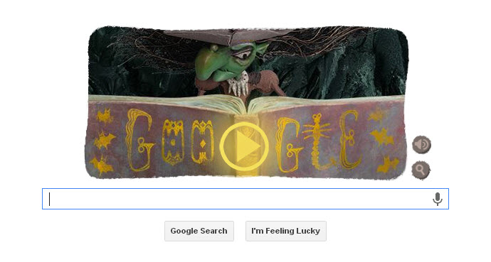Google Halloween Doodle 2013