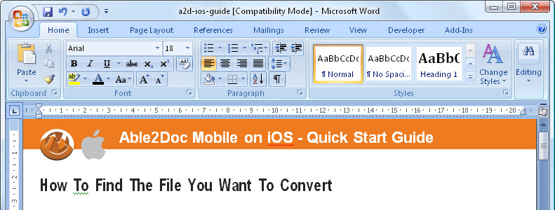 How To Convert Microsoft Word 2007 Into Pdf