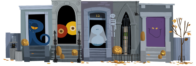 Trick or treating Doodle 2012