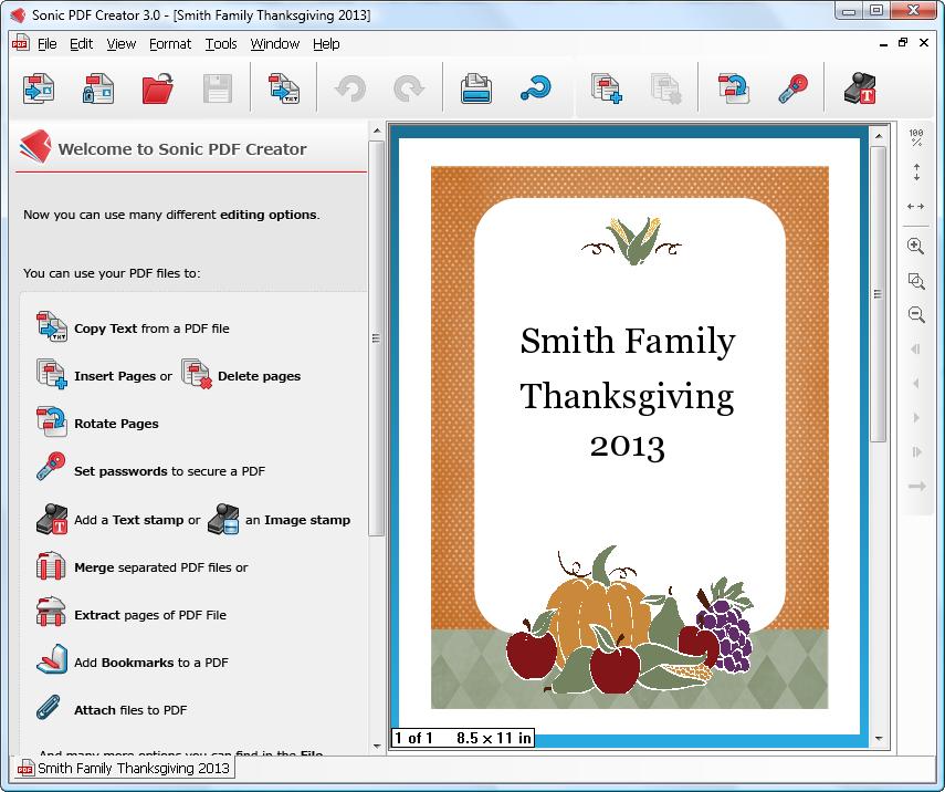 Sonic Thanksgiving PDF Album