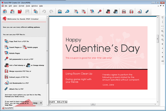 How to create printable valentine s day pdf coupon for Create a coupon template free