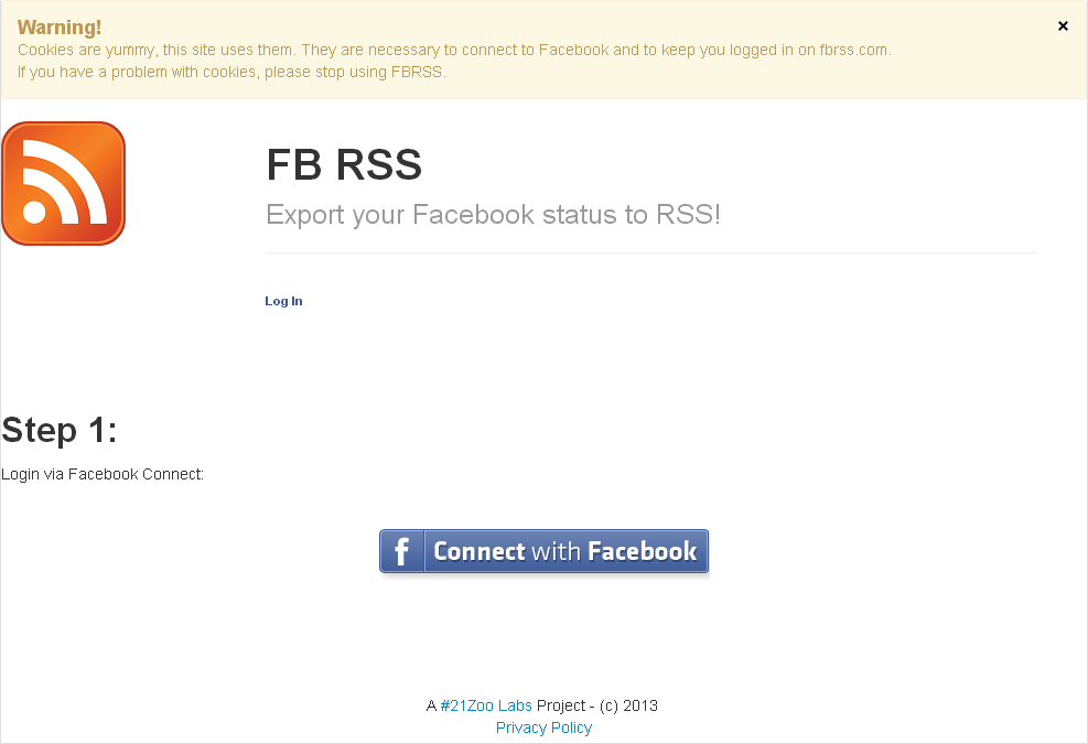 Facebook Wall RSS​ Feed
