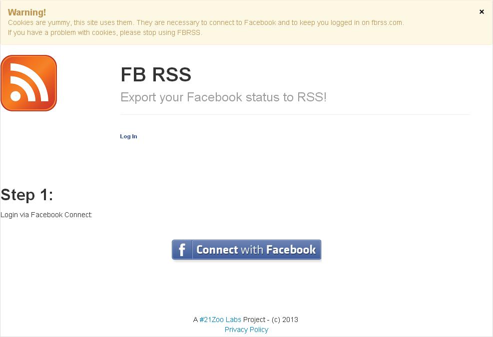 Facebook Wall RSS Feed