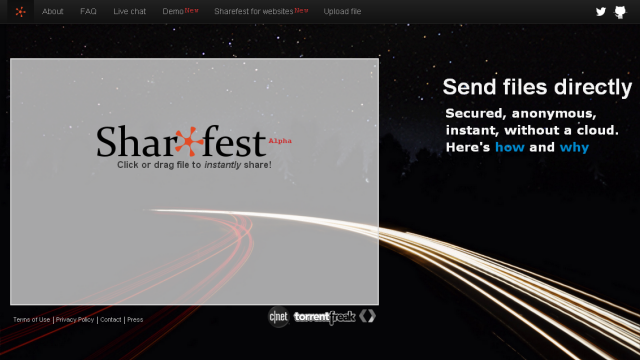 Sharefest Interface
