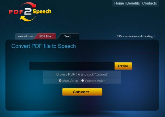 Convert PDF to Audio