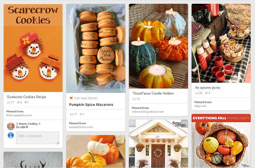 Thanksgiving Pinterest Boards