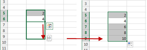 Entering Spreadsheet Data Patterns
