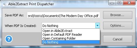Print Dispatcher Interface