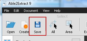 Saving PDF In Able2Extract