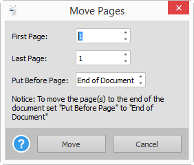 Moving PDF Pages