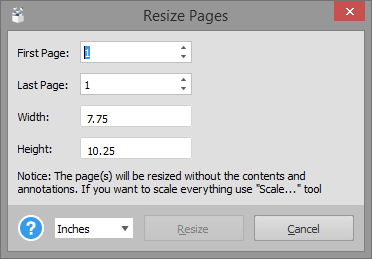 Adjusting PDF Page Dimensions