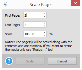 Adjusting PDF Content Dimensions