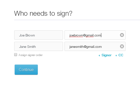 Adding Signers To Document