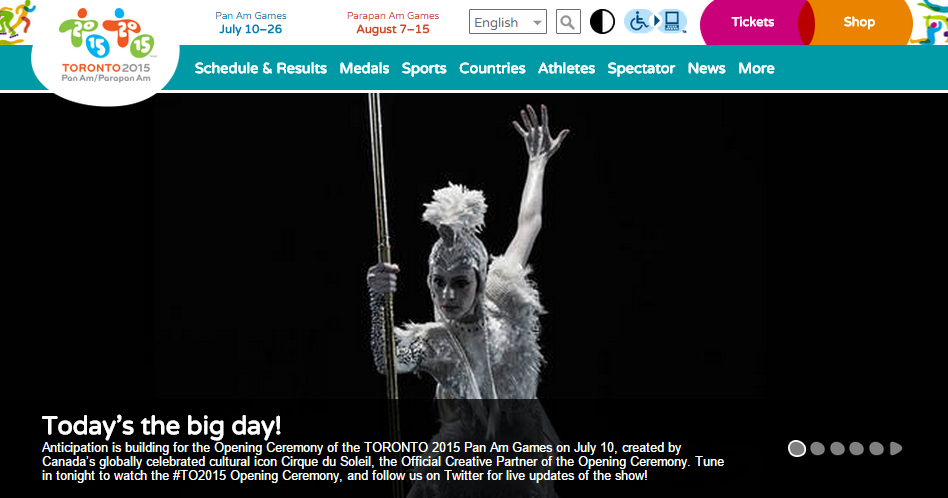 Toronto Pan Am Homepage