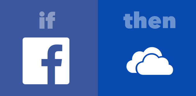 Facebook Photos OneDrive IFTTT
