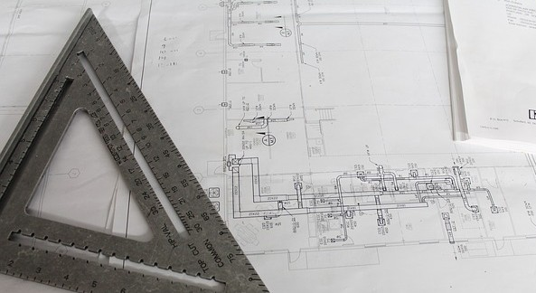 Industrial Technical Drawing