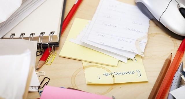 Messy Desk Clutter