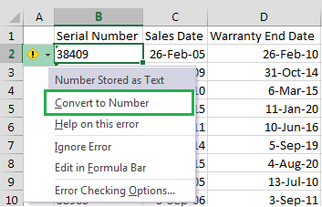 Convert To Number Option